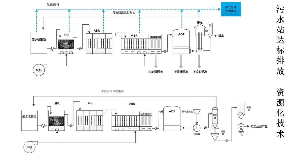 农药废水处理工艺配图